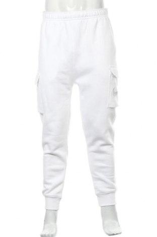 Мъжко спортно долнище Nike, Размер L, Цвят Бял, 80% памук, 20% полиестер, Цена 51,94лв.