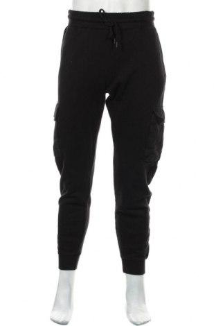 Pantaloni trening de bărbați Topman, Mărime L, Culoare Negru, Bumbac, Preț 133,22 Lei