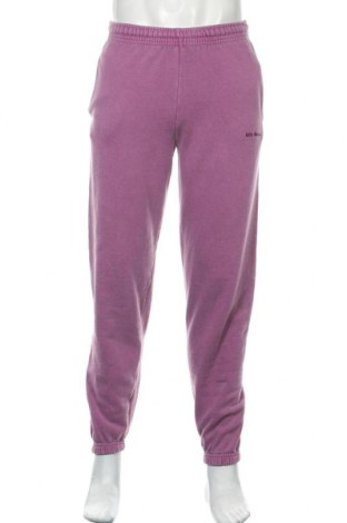 Pantaloni trening de bărbați Urban Outfitters, Mărime S, Culoare Mov deschis, 79% bumbac, 21% poliester, Preț 194,90 Lei