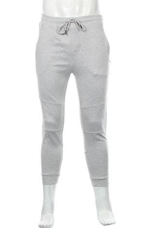 Мъжко спортно долнище Zara, Размер L, Цвят Сив, 77% полиестер, 20% вискоза, 3% еластан, Цена 54,00лв.