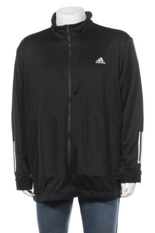 Мъжко спортно горнище Adidas, Размер XXL, Цвят Черен, Полиестер, Цена 52,47лв.