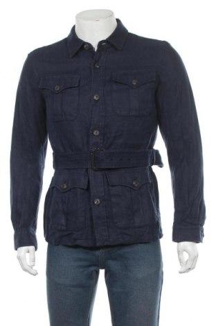 Ανδρικό μπουφάν Massimo Dutti, Μέγεθος M, Χρώμα Μπλέ, Λινό, Τιμή 46,73€