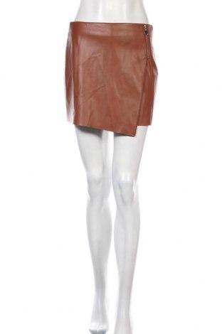 Sukně- kalhoty  Zara, Velikost M, Barva Hnědá, Eko kůže, Cena  855,00Kč