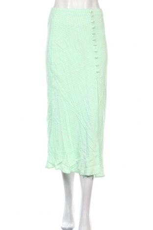 Fustă Zara, Mărime S, Culoare Verde, Viscoză, Preț 194,08 Lei