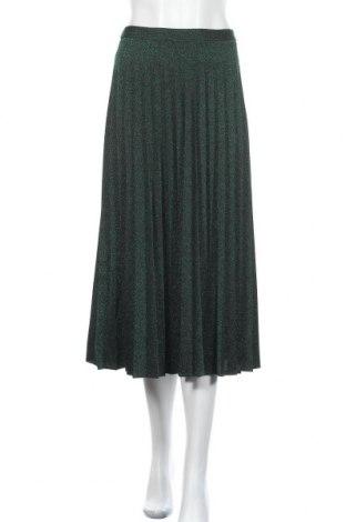 Fustă Zara, Mărime XL, Culoare Verde, 91% poliester, 7% fire din metal, 2% elastan, Preț 171,05 Lei
