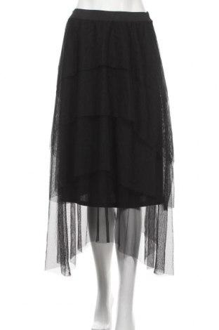 Fustă Zara, Mărime S, Culoare Negru, Poliester, Preț 194,08 Lei