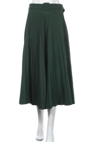 Fustă Zara, Mărime S, Culoare Verde, 77% poliester, 20% viscoză, 3% elastan, Preț 226,97 Lei