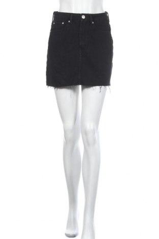 Fustă Zara, Mărime S, Culoare Negru, Bumbac, Preț 194,08 Lei