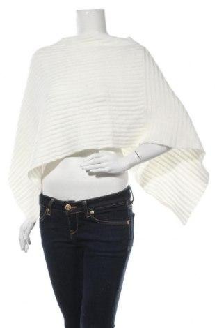 Пончо Gina Tricot, Размер S, Цвят Бял, 100% акрил, Цена 13,86лв.