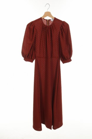 Φόρεμα Closet London, Μέγεθος XS, Χρώμα Καφέ, 96% πολυεστέρας, 4% ελαστάνη, Τιμή 26,47€