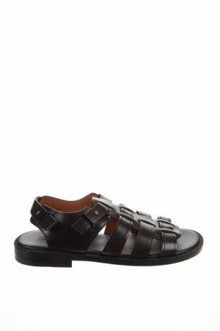 Σανδάλια Zara, Μέγεθος 44, Χρώμα Μαύρο, Δερματίνη, Τιμή 20,65€