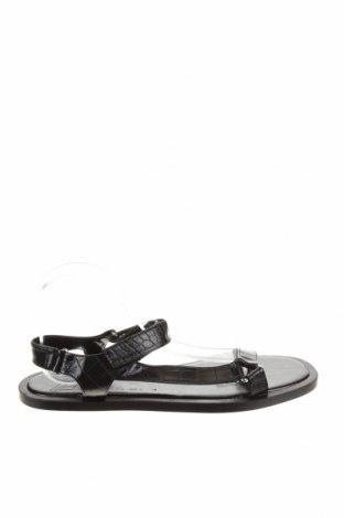 Σανδάλια Zara, Μέγεθος 42, Χρώμα Μαύρο, Δερματίνη, Τιμή 16,70€