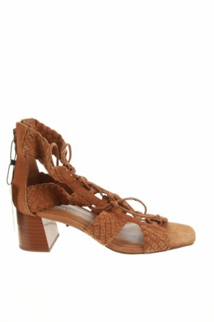 Sandály Zara, Velikost 37, Barva Béžová, Přírodní velur , Cena  665,00Kč