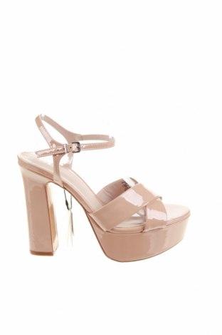 Сандали Zara, Размер 39, Цвят Розов, Еко кожа, Цена 18,97лв.