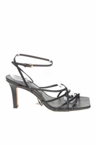 Σανδάλια Zara, Μέγεθος 39, Χρώμα Μαύρο, Γνήσιο δέρμα, Τιμή 26,38€