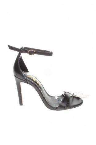Σανδάλια Zara, Μέγεθος 35, Χρώμα Μαύρο, Γνήσιο δέρμα, Τιμή 26,38€