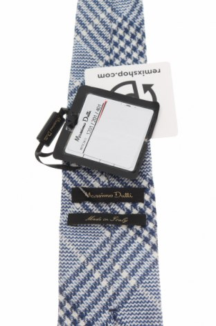 Вратовръзка Massimo Dutti, Цвят Син, 50% коприна, 30% лен, 20% вълна, Цена 44,25лв.