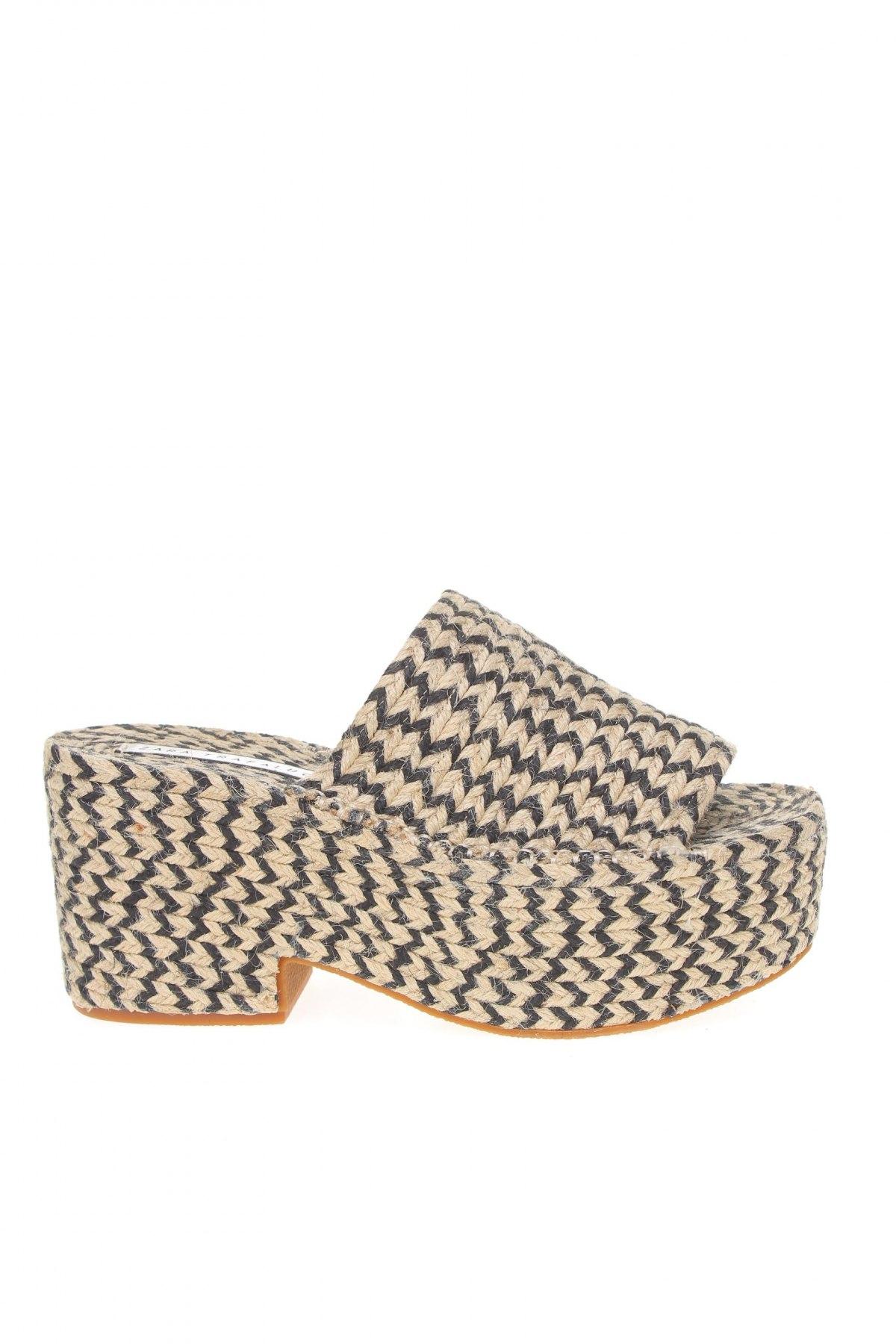 Papuci Zara Trafaluc, Mărime 40, Culoare Bej, Textil, Preț 63,23 Lei
