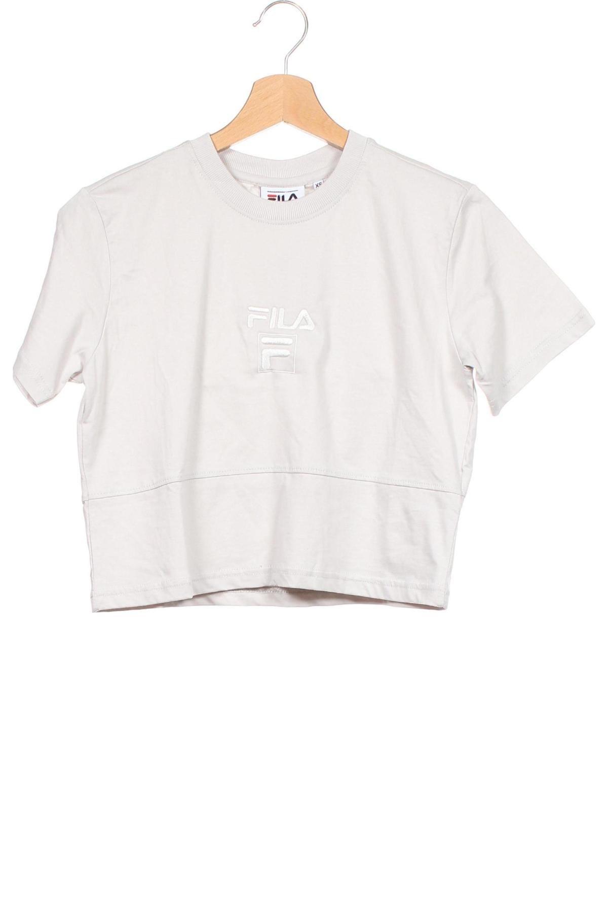 Tricou de femei Fila, Mărime XS, Culoare Gri, Bumbac, Preț 103,62 Lei