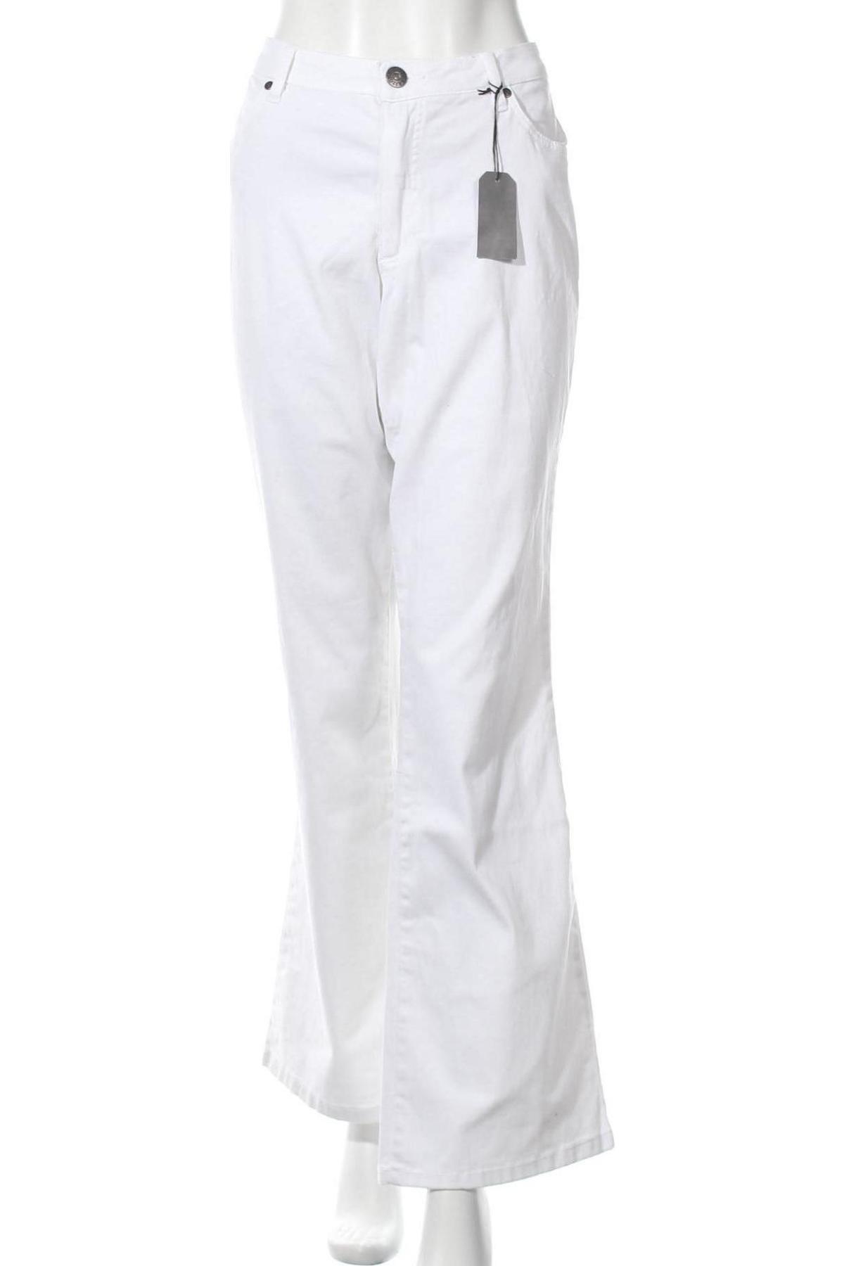 Дамски дънки Arizona, Размер XXL, Цвят Бял, 98% памук, 2% еластан, Цена 25,95лв.