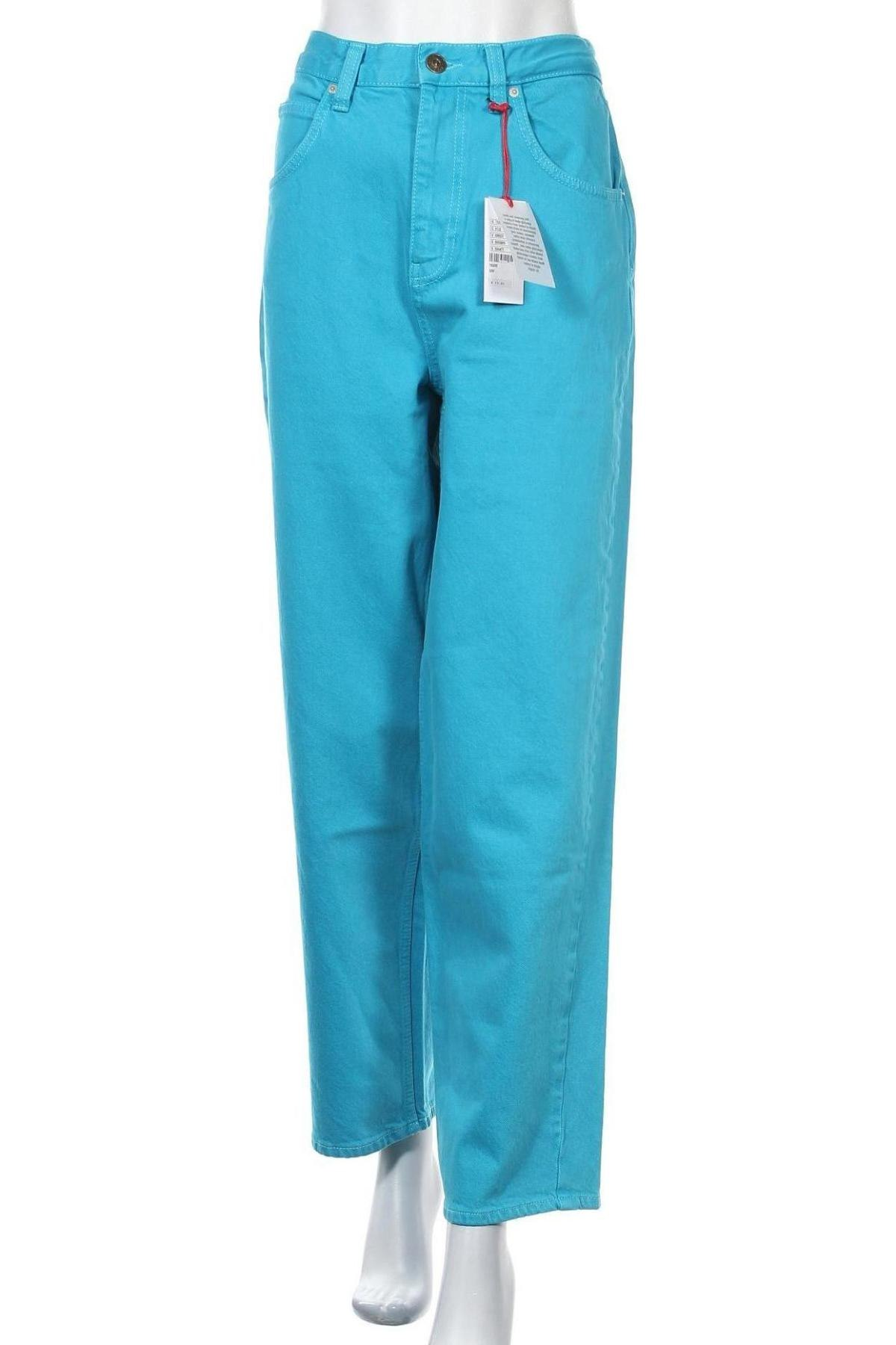 Дамски дънки BDG, Размер L, Цвят Син, 99% памук, 1% еластан, Цена 41,96лв.