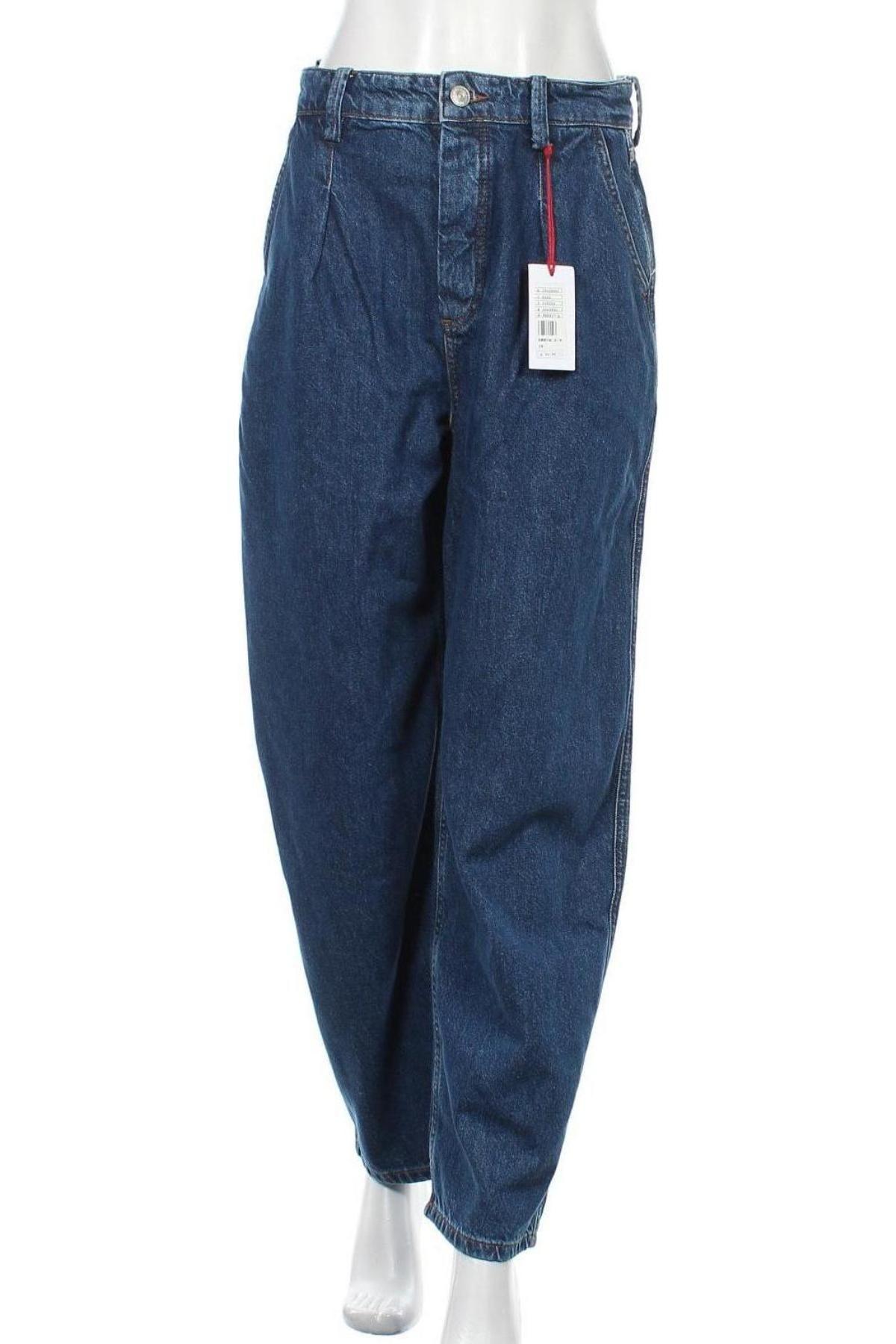 Дамски дънки BDG, Размер M, Цвят Син, 55% памук, 45% лиосел, Цена 41,30лв.