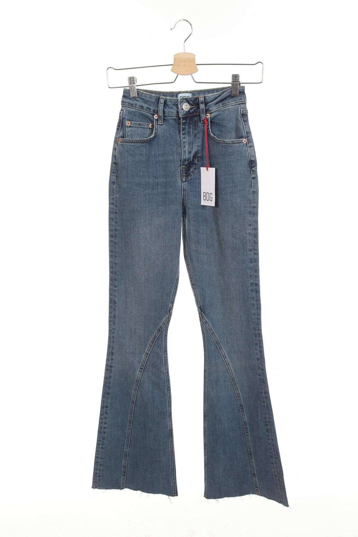Дамски дънки BDG, Размер XXS, Цвят Син, 99% памук, 1% еластан, Цена 36,13лв.