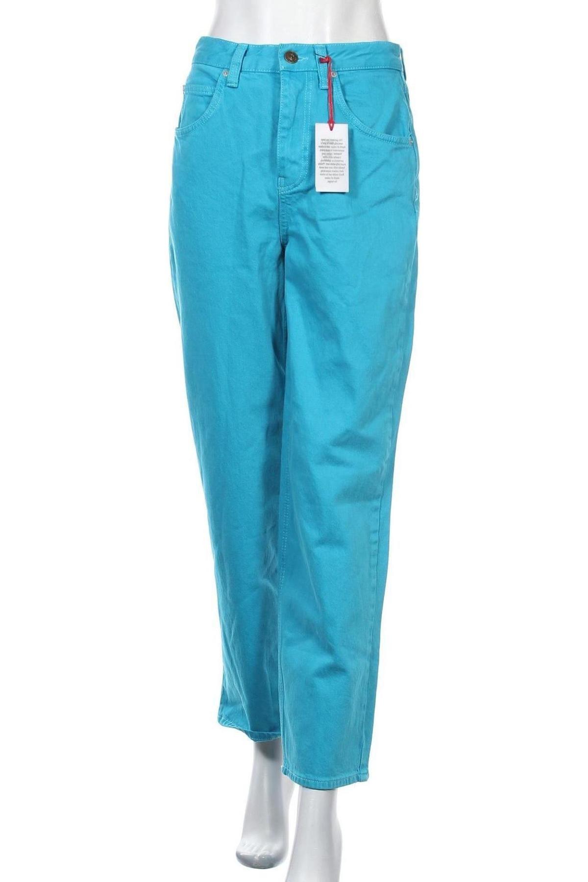 Дамски дънки BDG, Размер M, Цвят Син, 99% памук, 1% еластан, Цена 41,96лв.