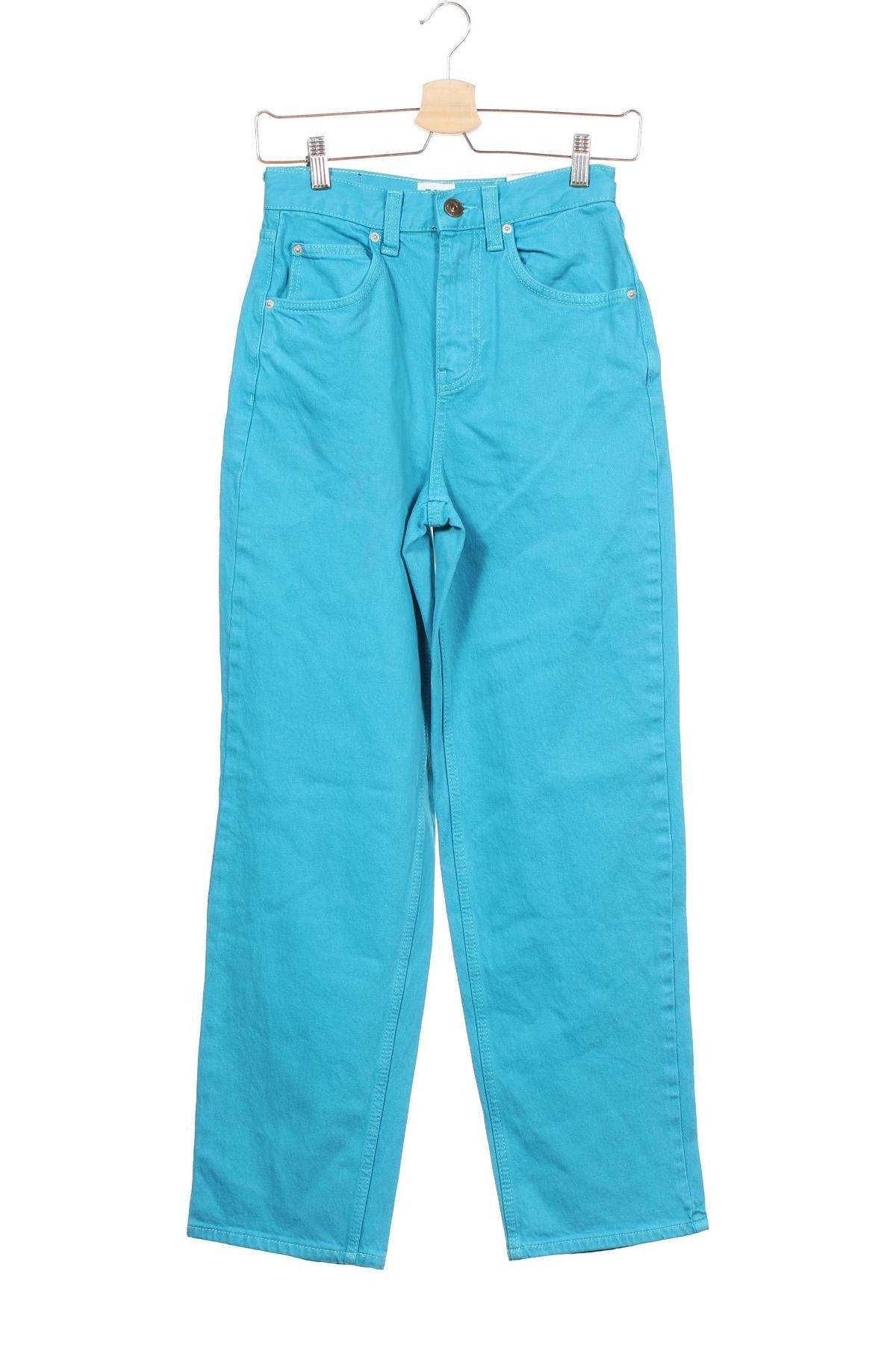 Дамски дънки BDG, Размер XXS, Цвят Син, 99% памук, 1% еластан, Цена 41,96лв.