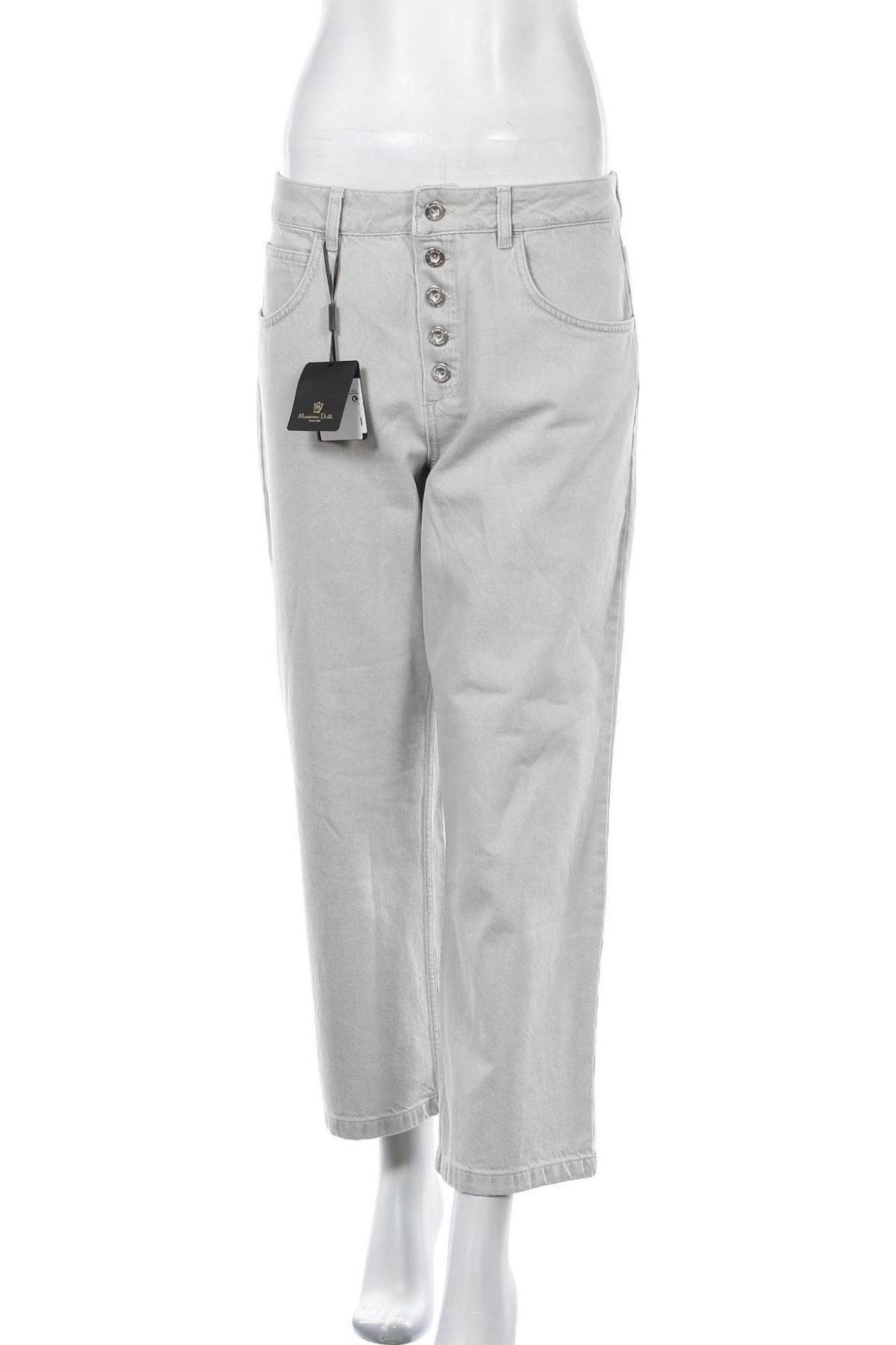 Дамски дънки Massimo Dutti, Размер M, Цвят Сив, Памук, Цена 28,17лв.