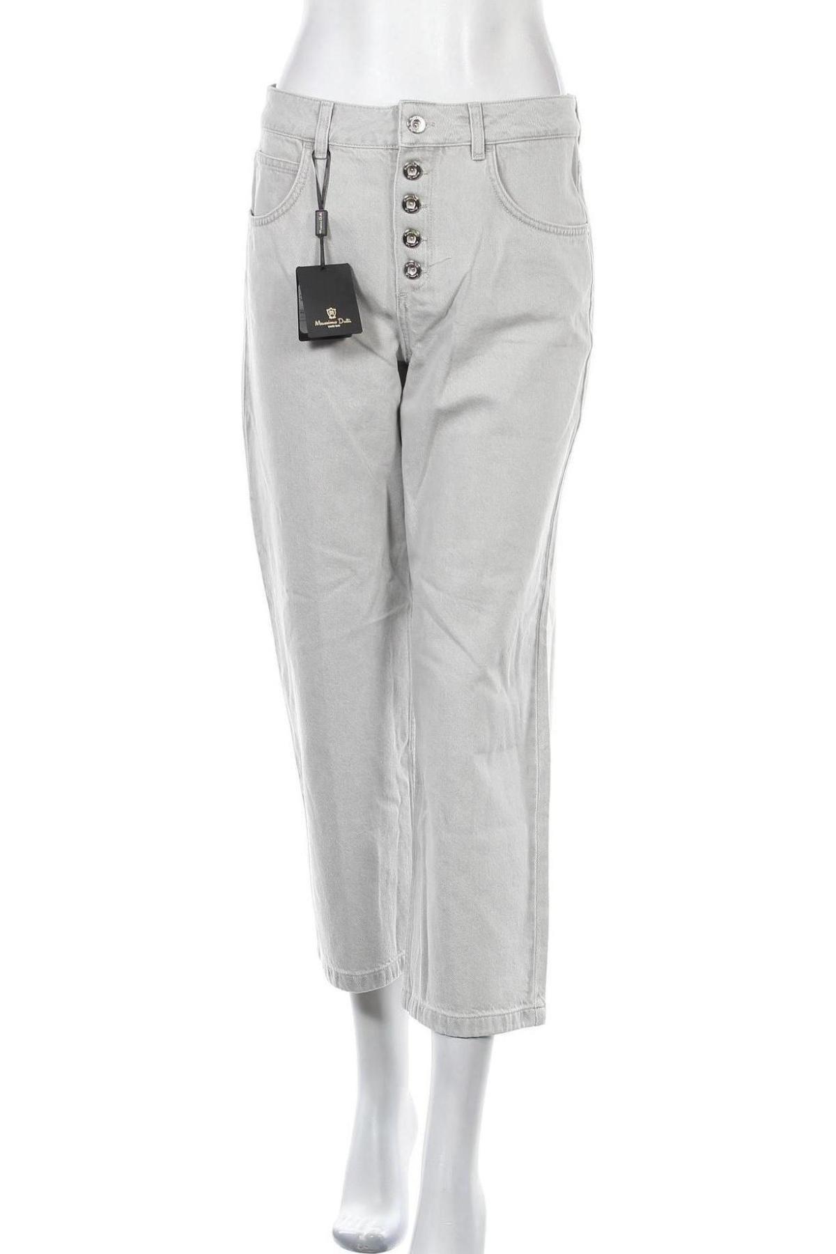 Дамски дънки Massimo Dutti, Размер M, Цвят Сив, Памук, Цена 27,17лв.