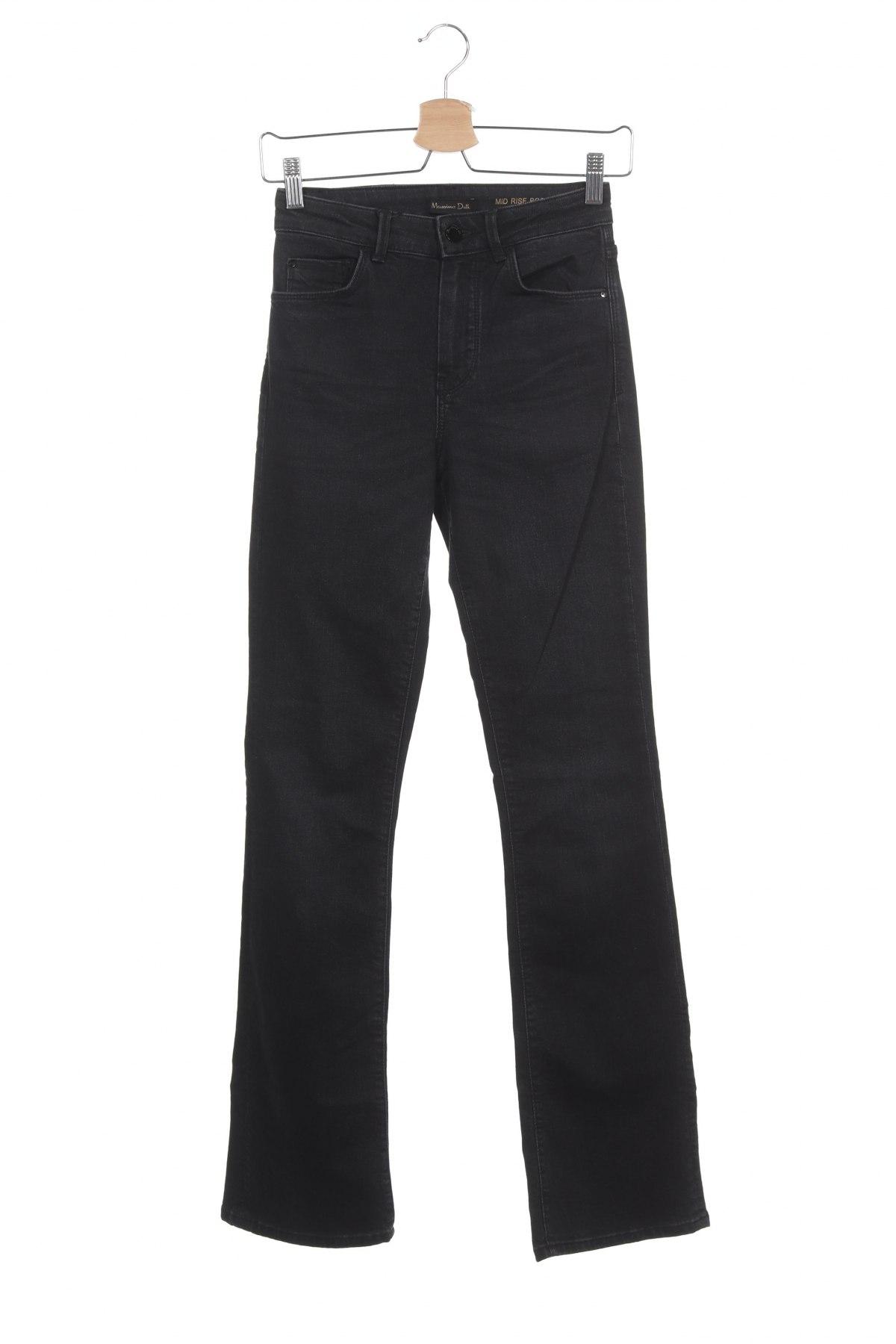 Дамски дънки Massimo Dutti, Размер XS, Цвят Сив, 98% памук, 2% еластан, Цена 66,75лв.