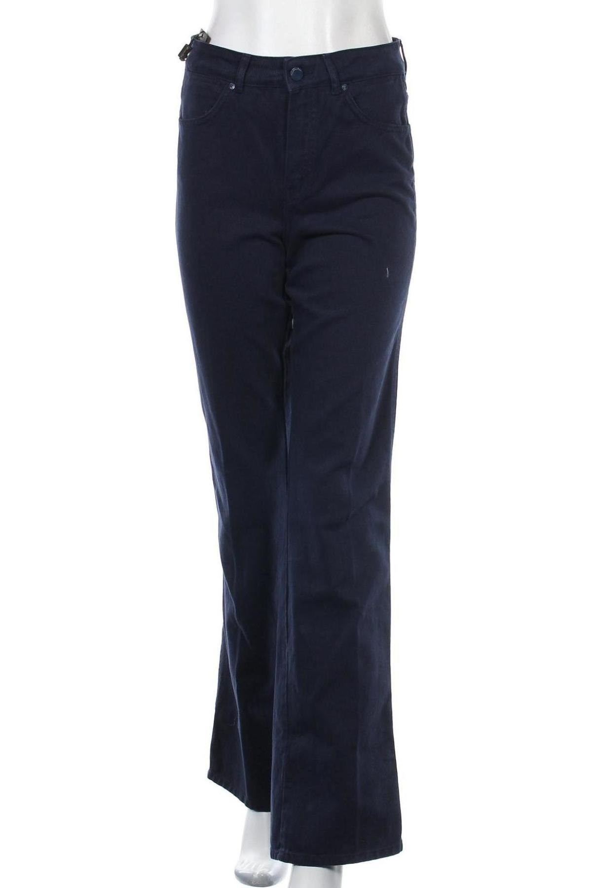 Дамски дънки Massimo Dutti, Размер S, Цвят Син, Памук, Цена 49,05лв.