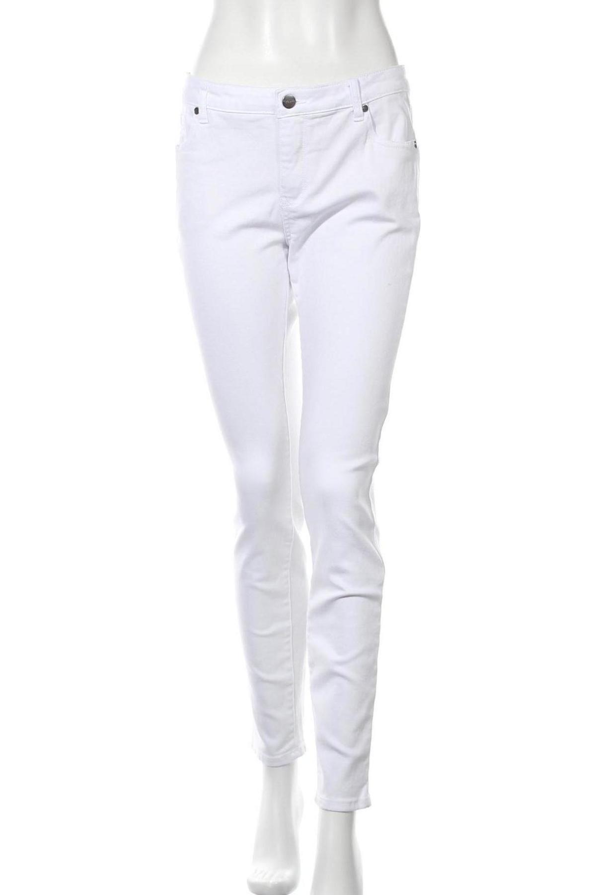 Дамски дънки Tamaris, Размер M, Цвят Бял, 98% памук, 2% еластан, Цена 25,24лв.