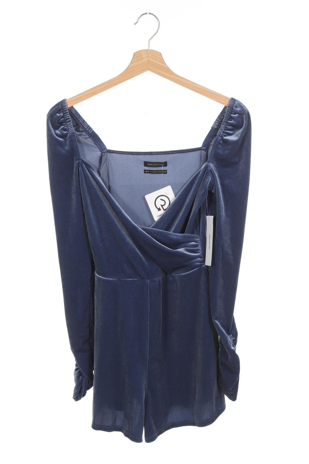Дамски гащеризон Urban Outfitters, Размер XS, Цвят Син, 90% полиестер, 10% еластан, Цена 27,72лв.