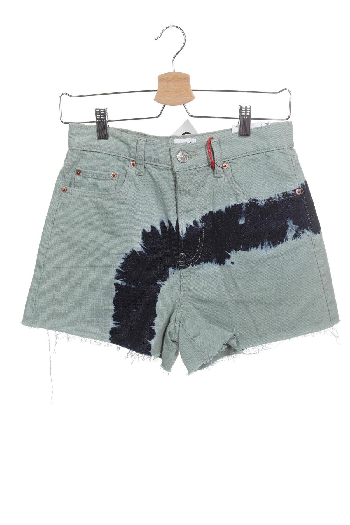 Дамски къс панталон BDG, Размер XS, Цвят Зелен, Памук, Цена 13,68лв.