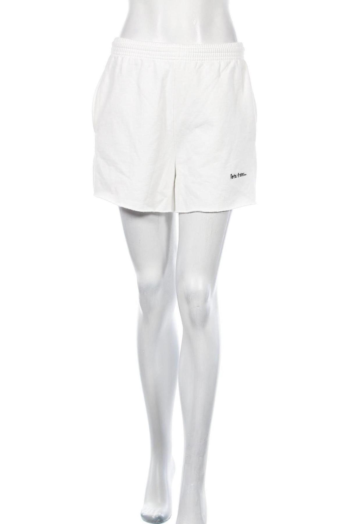 Дамски къс панталон Urban Outfitters, Размер S, Цвят Бял, 100% памук, Цена 8,77лв.