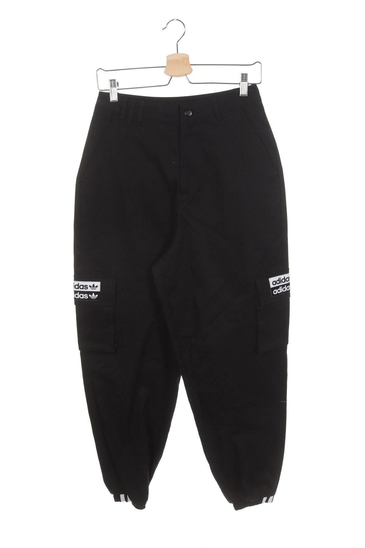 Дамски панталон Adidas Originals, Размер XS, Цвят Черен, Памук, Цена 96,75лв.