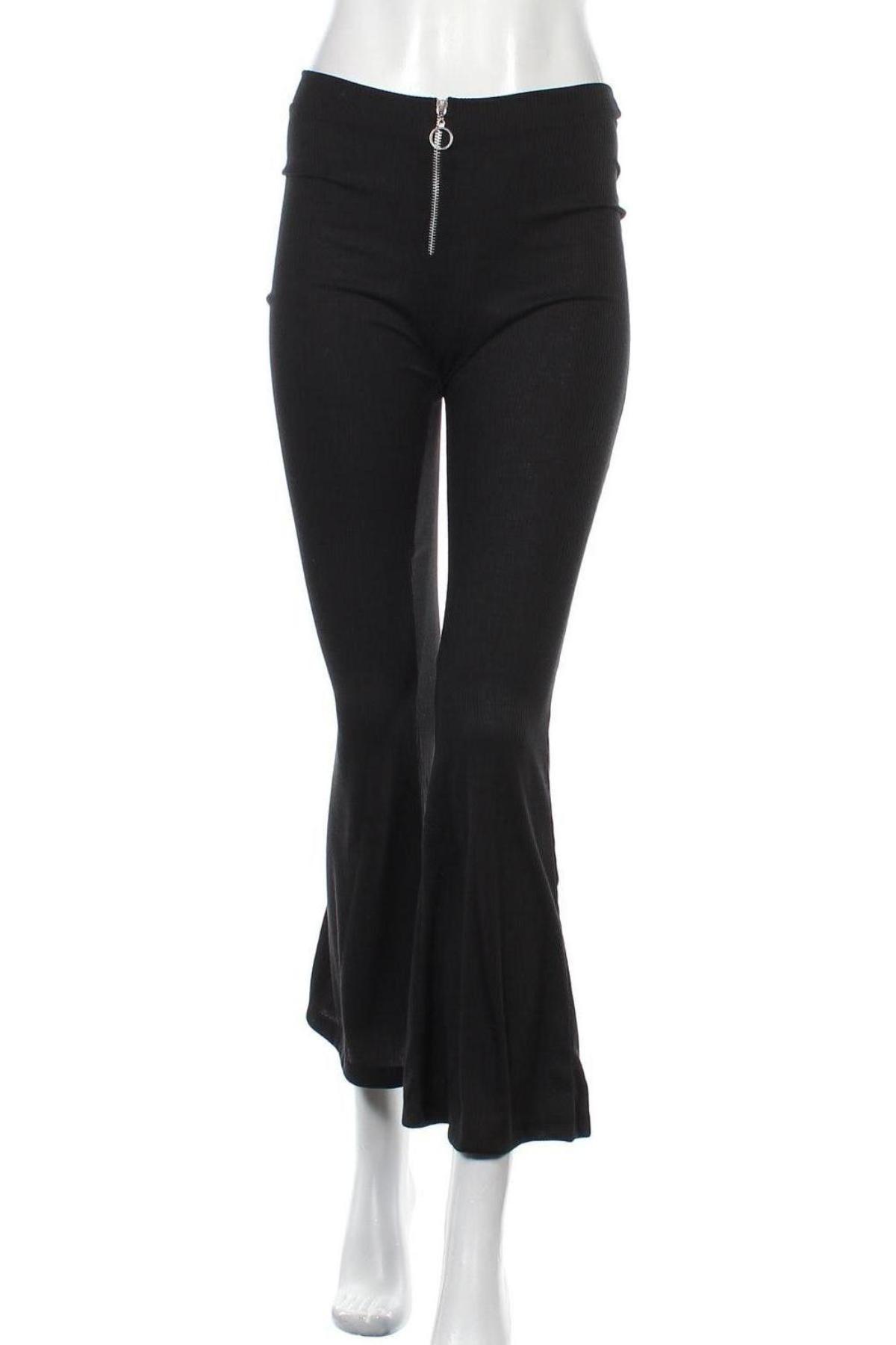Дамски панталон Another Reason, Размер S, Цвят Черен, Полиестер, Цена 9,37лв.