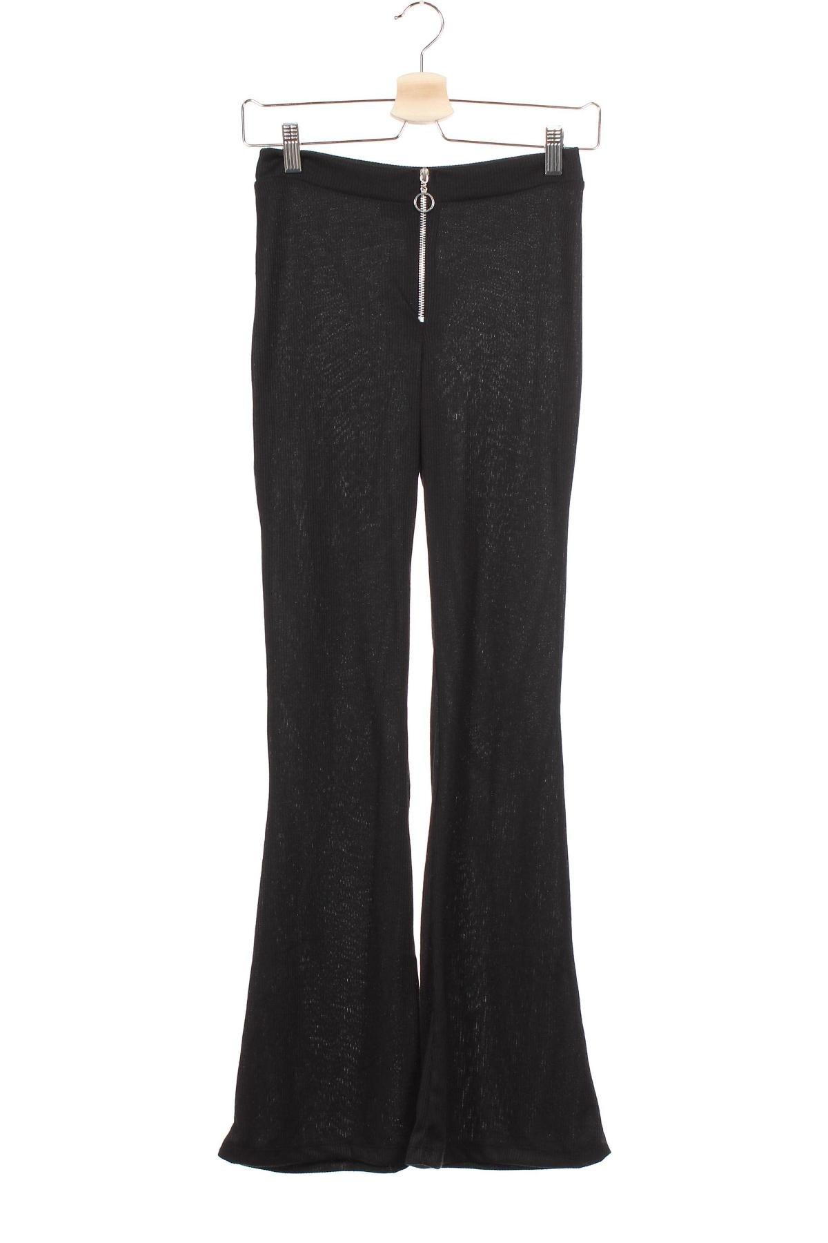 Дамски панталон Another Reason, Размер XS, Цвят Черен, Полиестер, Цена 9,37лв.