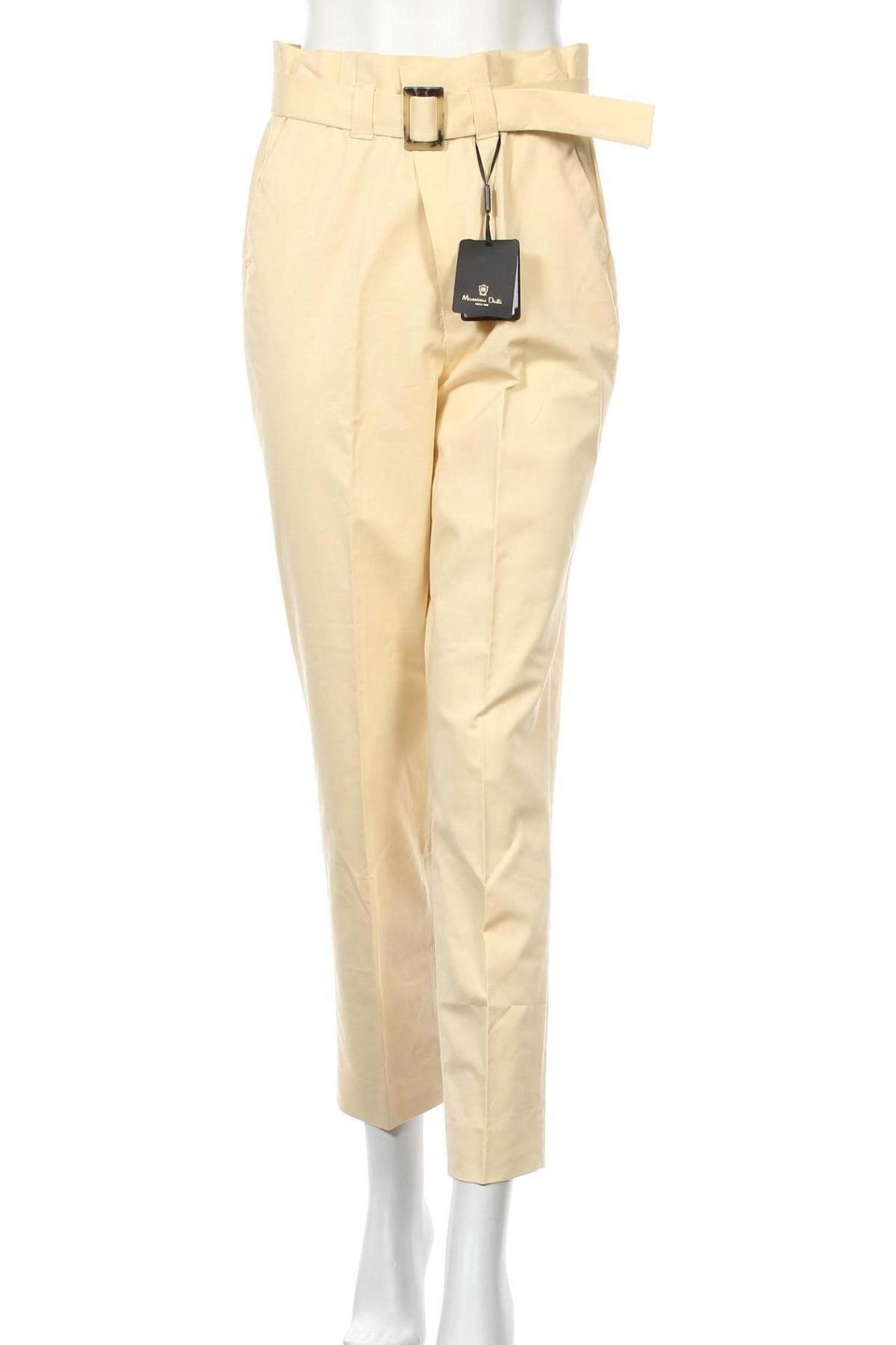 Γυναικείο παντελόνι Massimo Dutti, Μέγεθος M, Χρώμα Κίτρινο, 54% βαμβάκι, 43% βισκόζη, 3% ελαστάνη, Τιμή 31,31€