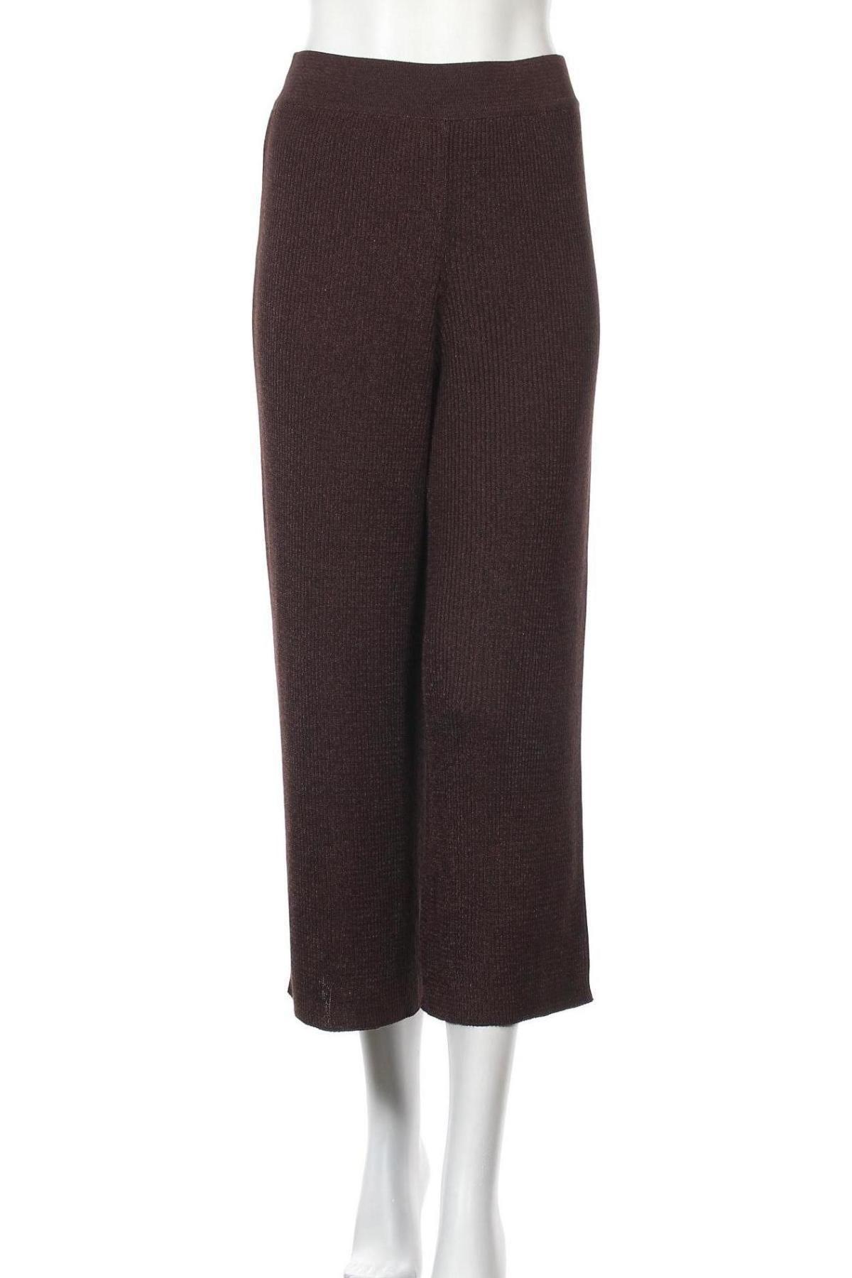 Дамски панталон Massimo Dutti, Размер S, Цвят Кафяв, 54% вискоза, 46% полиестер, Цена 34,88лв.