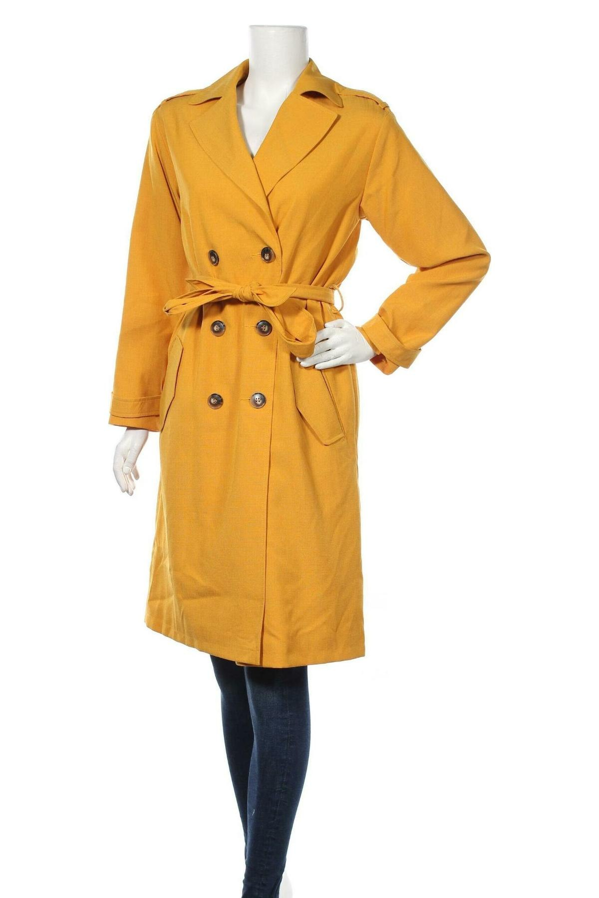 Дамски шлифер Topshop, Размер M, Цвят Жълт, Полиестер, Цена 74,25лв.