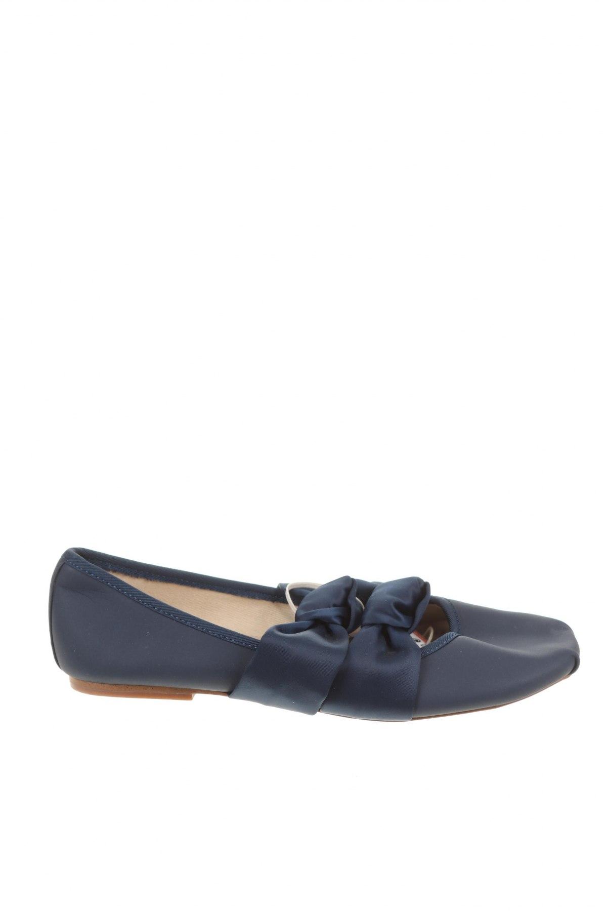 Детски обувки Zara, Размер 34, Цвят Син, Еко кожа, текстил, Цена 27,00лв.