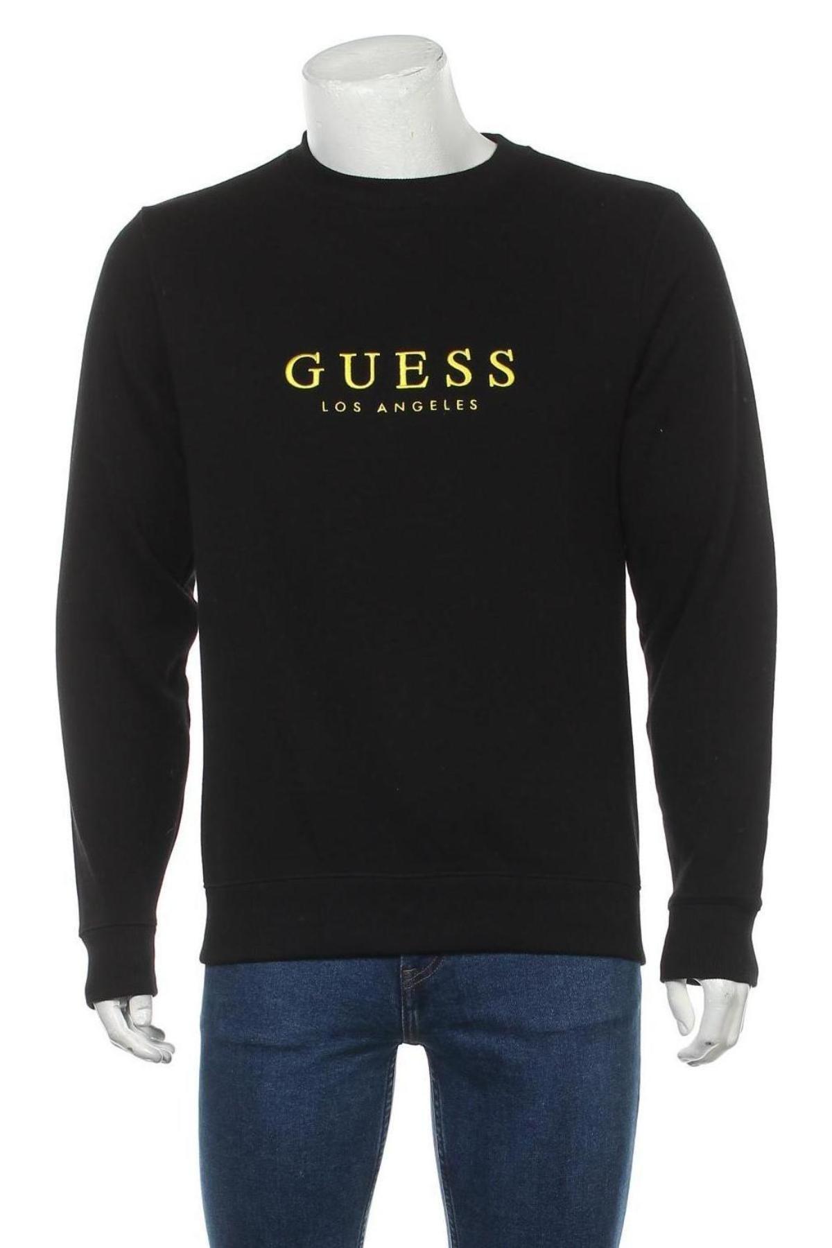 Мъжка блуза Guess, Размер S, Цвят Черен, 86% памук, 14% полиестер, Цена 89,25лв.