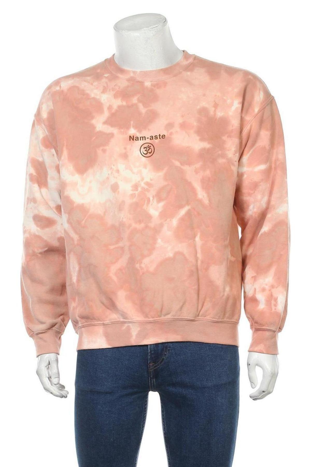 Мъжка блуза Urban Outfitters, Размер S, Цвят Розов, 50% памук, 50% полиестер, Цена 13,55лв.