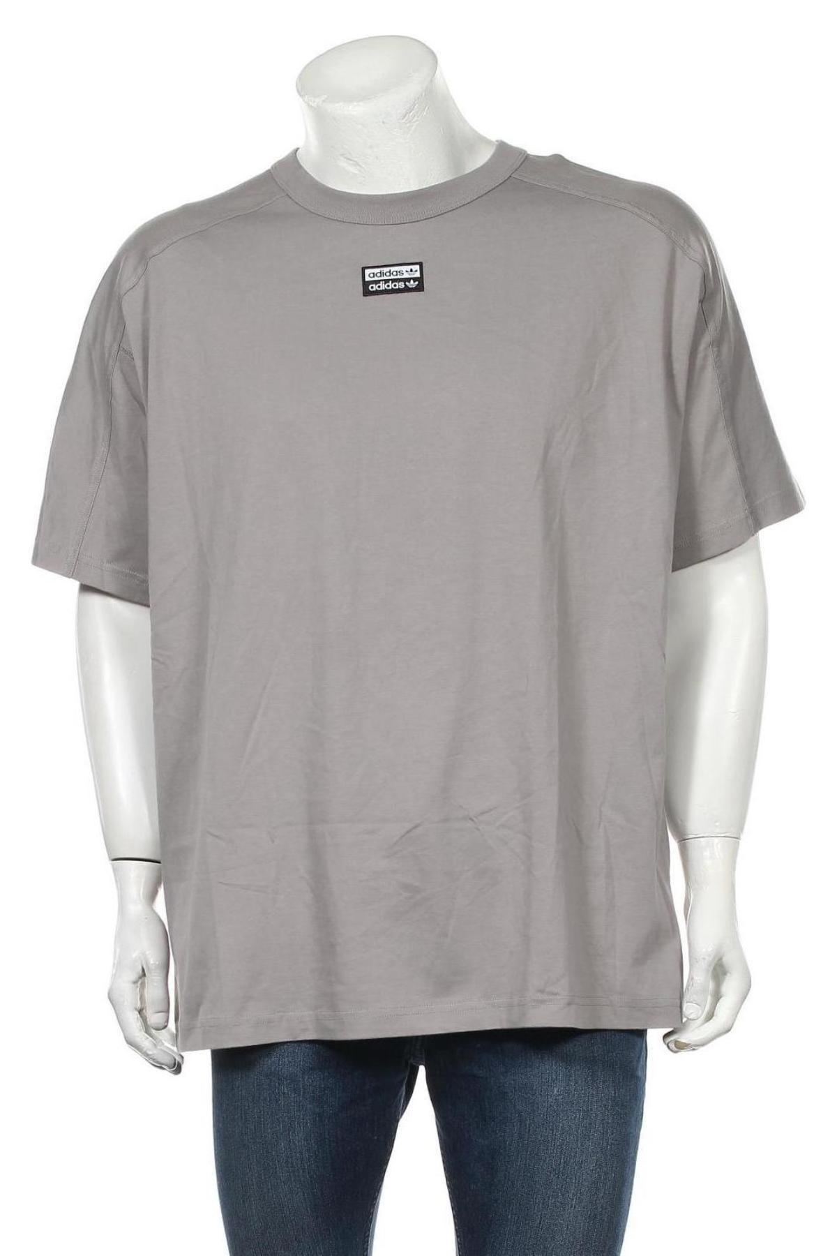 Мъжка тениска Adidas Originals, Размер XL, Цвят Сив, Памук, Цена 51,75лв.
