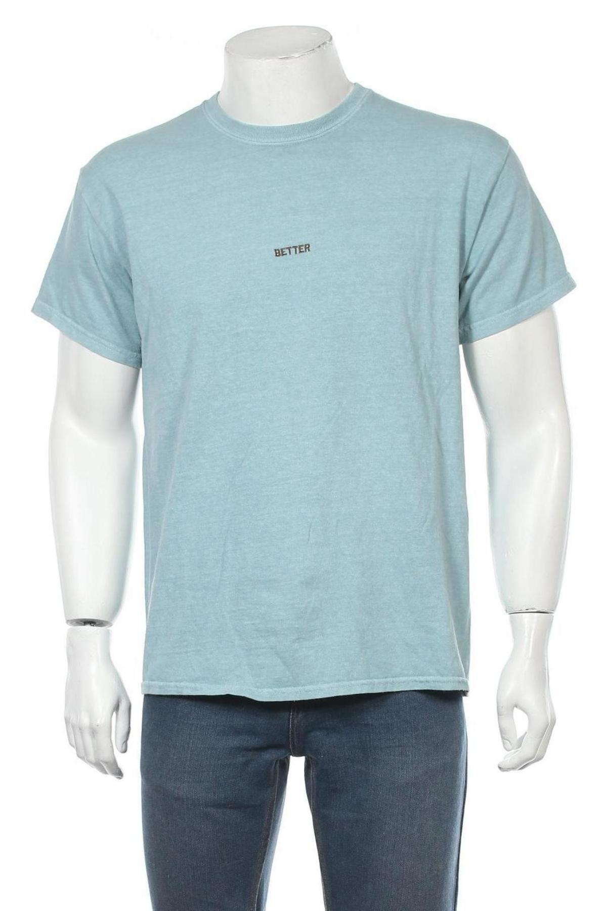 Мъжка тениска Urban Outfitters, Размер M, Цвят Син, Памук, Цена 36,75лв.