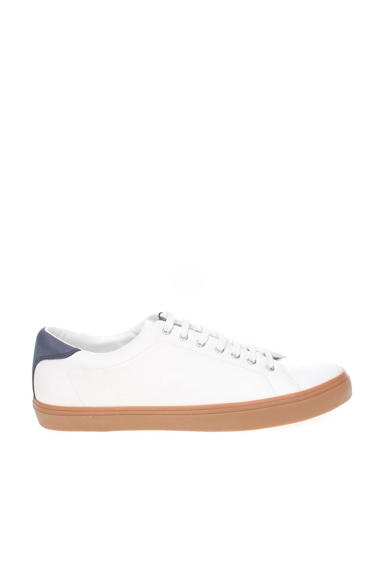 Мъжки обувки Zara, Размер 45, Цвят Бял, Еко кожа, Цена 44,50лв.