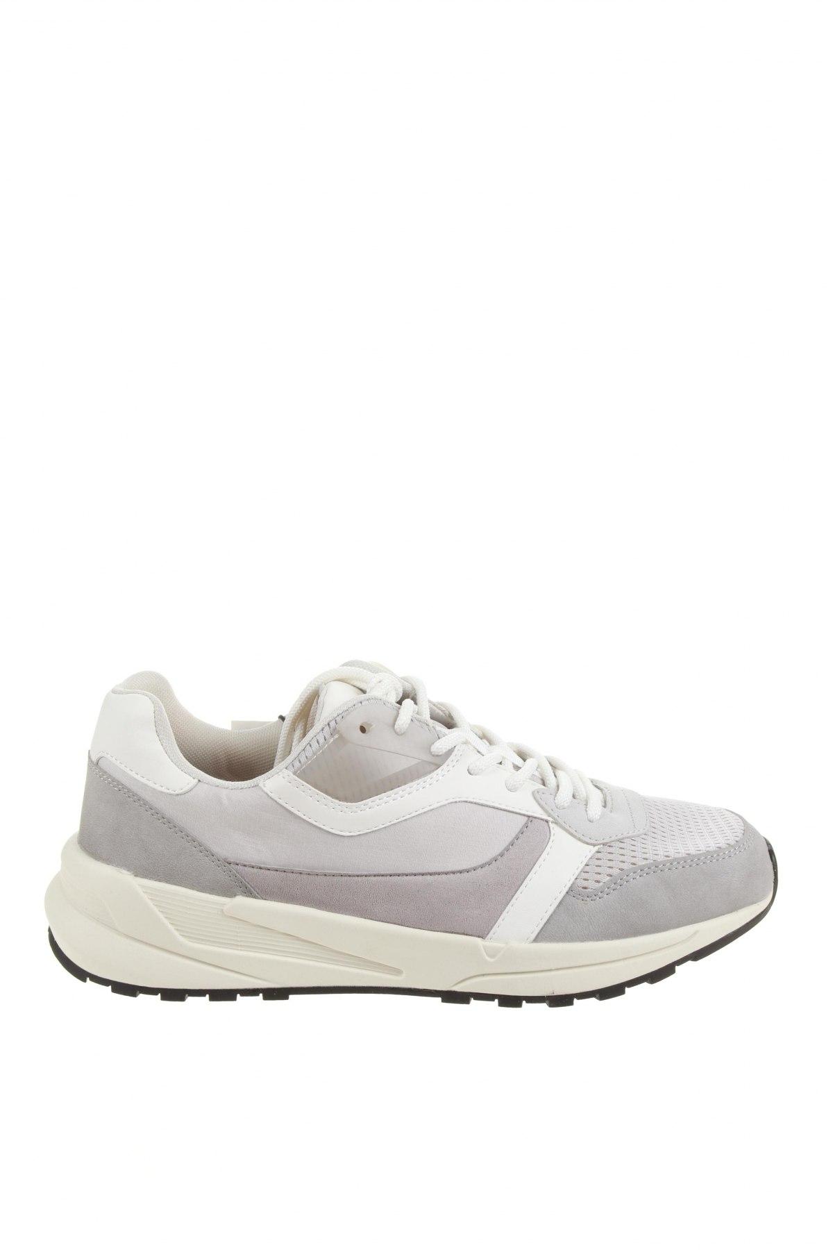 Мъжки обувки Zara, Размер 43, Цвят Сив, Еко кожа, текстил, Цена 31,15лв.